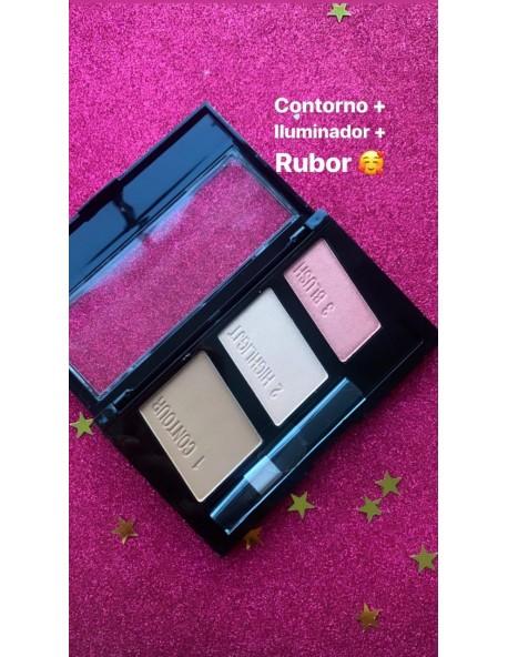 Rubor+Contorno+Iluminador Miis Cosmetics