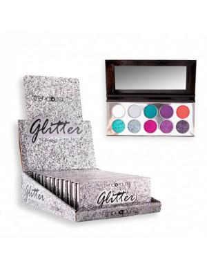 Sombras Glitter Plata...